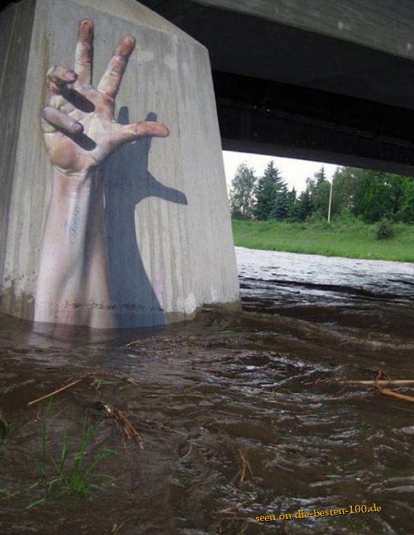 Die besten 100 Bilder in der Kategorie graffiti: Cool 3D Hand Graffiti
