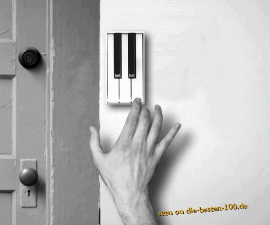 Die besten 100 Bilder in der Kategorie clever: Piano Tasten Klingel