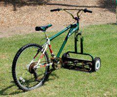 Die besten 100 Bilder in der Kategorie clever: Fahrradrasenmäher