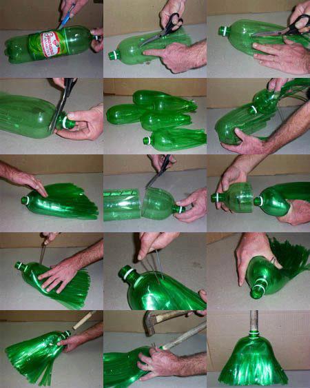 Die besten 100 Bilder in der Kategorie clever: Recycling Besen aus PET Flasche