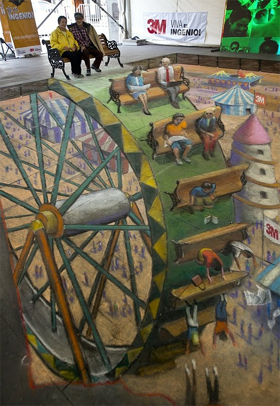 Die besten 100 Bilder in der Kategorie strassenmalerei: Riesenrad