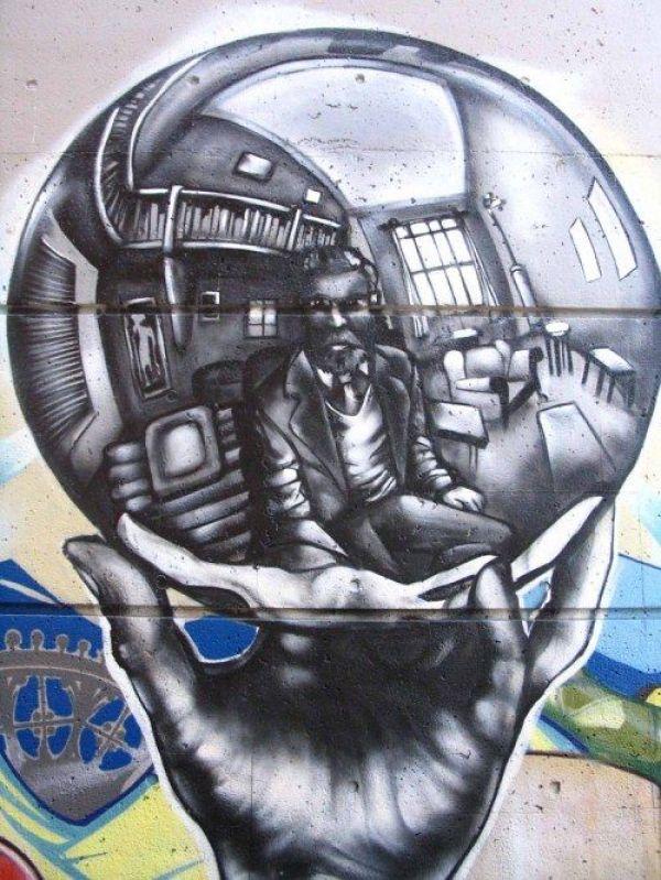 Die besten 100 Bilder in der Kategorie graffiti: M. C. Escher Graffiti