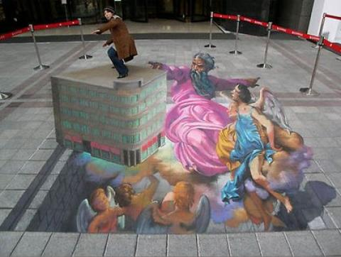 Street Art Painting from Heaven