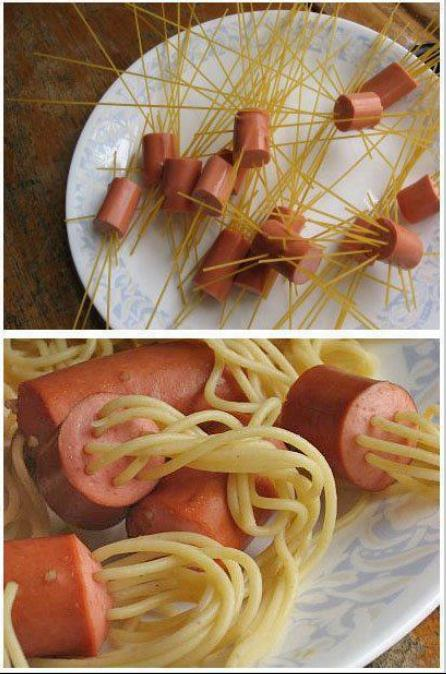 How to: Spaghetti mit sausages