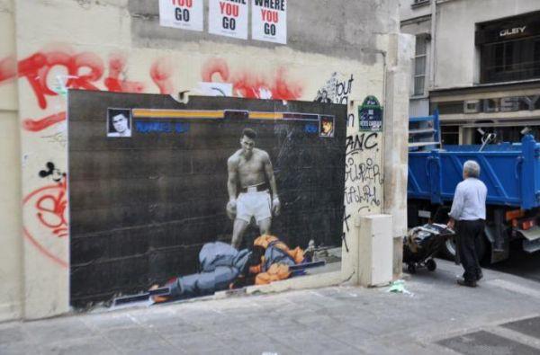 Die besten 100 Bilder in der Kategorie graffiti: Muhammad Ali beats Ryu Street Fighter - Street Art