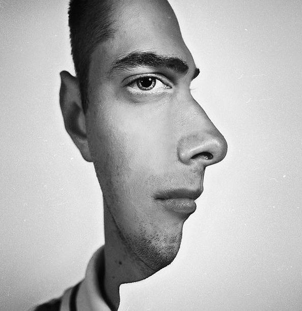 Die besten 100 Bilder in der Kategorie photoshops: Photoshop Profil Frontal Gesichts Täuschung