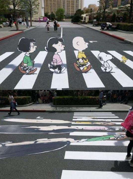 Die besten 100 Bilder in der Kategorie strassenmalerei: Peanuts Street Art