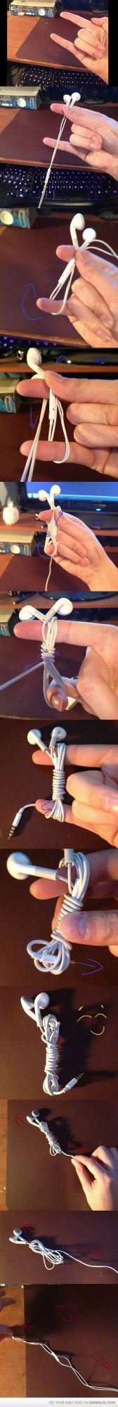 Die besten 100 Bilder in der Kategorie clever: iPhone Kopfhörer aufwickeln ohne Knoten