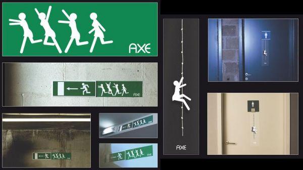 Die besten 100 Bilder in der Kategorie werbung: Axe Effect Werbung Fluchtweg