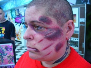 Wounded Face TAttoo