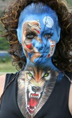 Die besten 100 Bilder in der Kategorie bodypainting: Wolf Bodypainting