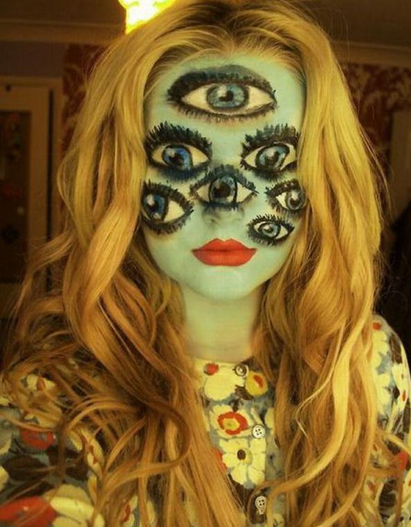 Die besten 100 Bilder in der Kategorie bodypainting: 7 Augen Facepainting