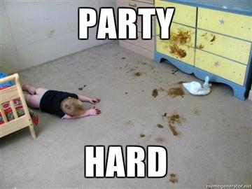 Die besten 100 Bilder in der Kategorie kinder: Party Hard - Scheiß Party