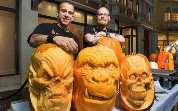 Die besten 100 Bilder in der Kategorie kunst: Kürbis-kopf Kunst - Halloween Pumpkin Art