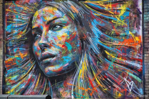 Die besten 100 Bilder in der Kategorie graffiti: Farbenfrohes Graffiti Portrait von David Walker