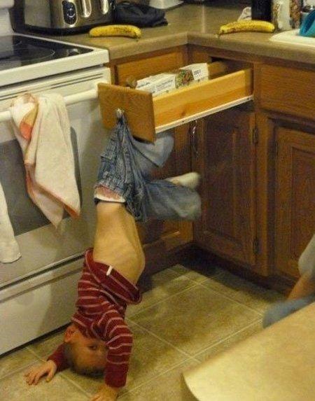 Die besten 100 Bilder in der Kategorie kinder: Küchen Kinder Falle
