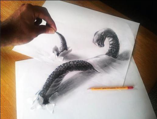 Die besten 100 Bilder in der Kategorie kunst: 3D Skizze Drachen