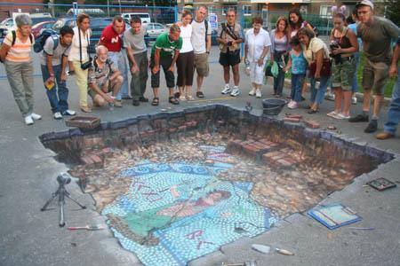 Die besten 100 Bilder in der Kategorie strassenmalerei: 3D Ausgrabung Street Art