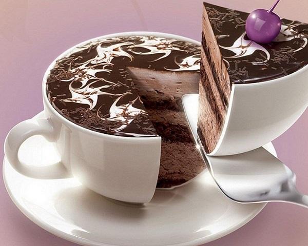 Die besten 100 Bilder in der Kategorie photoshops: Muss ein Scharfes Messer sein - Kuchen Tasse