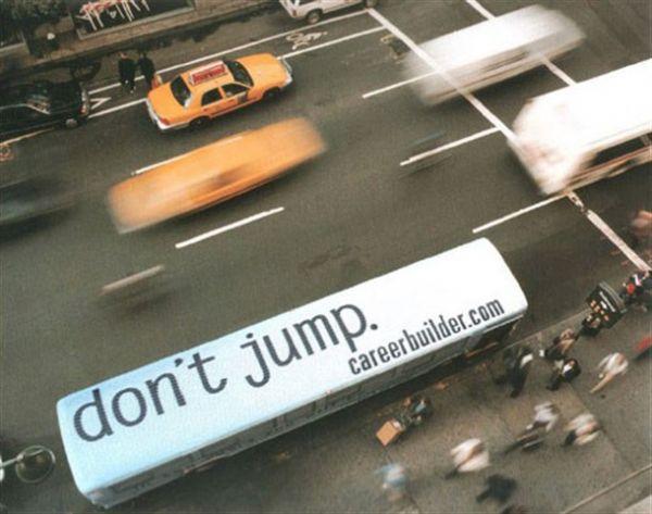 Die besten 100 Bilder in der Kategorie werbung: dont jump - Busdach Werbung