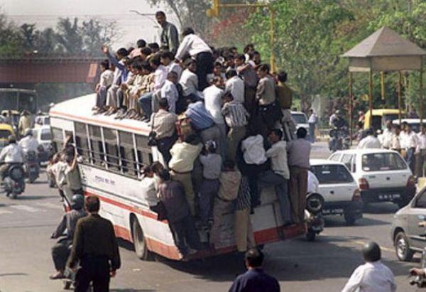 Die besten 100 Bilder in der Kategorie transport: Überladener Reisebus