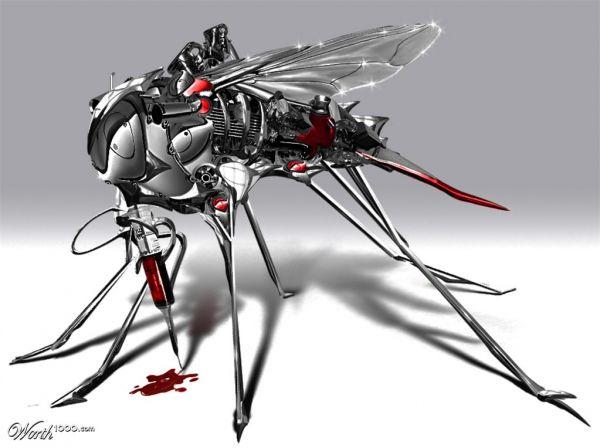 Die besten 100 Bilder in der Kategorie photoshops: Robot Mosquito