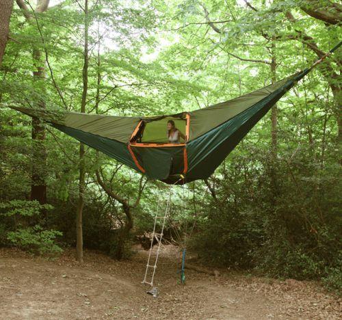 Die besten 100 Bilder in der Kategorie clever: Schlafschaukel - Hänge-Zelt mit Strickleiter
