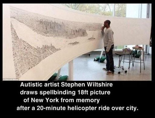 Menschen Autist Malt 6 Meter Großes Bild Von New York Die Besten