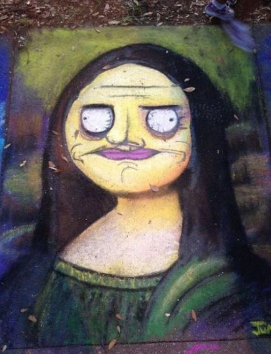 Die besten 100 Bilder in der Kategorie graffiti: Mona Lisa Comic Style Grafitti