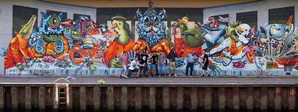 Die besten 100 Bilder in der Kategorie graffiti: LSD-Abendmahl Grafitti
