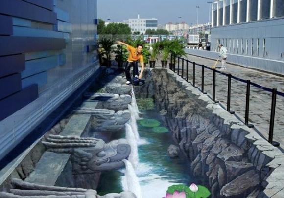 Die besten 100 Bilder in der Kategorie strassenmalerei: 3D Straßen Malerei Kunst optische Täuschung