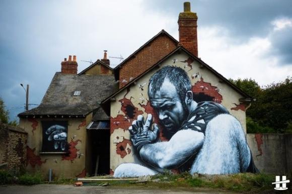 Die besten 100 Bilder in der Kategorie graffiti: Riesen Grafitti Kunst