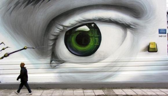 Die besten 100 Bilder in der Kategorie graffiti: Riesen Auge Grafitti