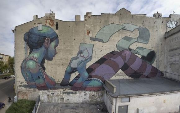 Die besten 100 Bilder in der Kategorie graffiti: Großwand Grafitti