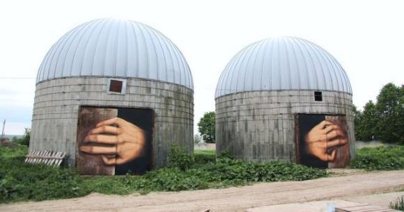 Die besten 100 Bilder in der Kategorie graffiti: Kreatives Lustiges Hände aus Silos Grafitti
