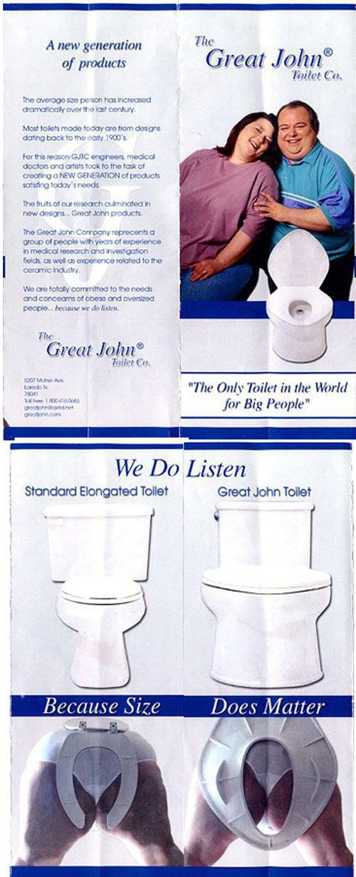 Great John Toilet - Because Size matter