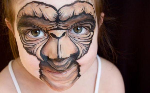 Die besten 100 Bilder in der Kategorie bodypainting: E.T. - Face Painting