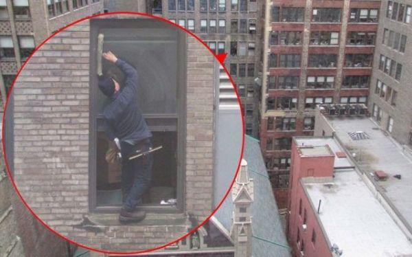 Gefaehrlich Dangerous Job Fenster Putzen An Hochhaus Oh Die