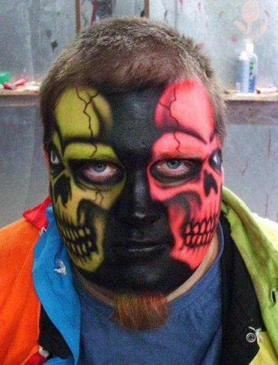 Double Skull Facepainting