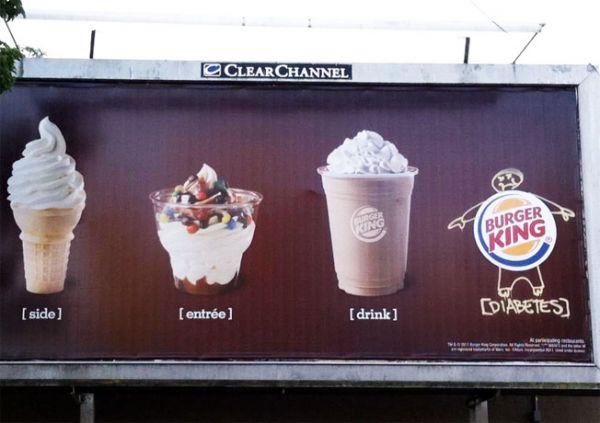 Die besten 100 Bilder in der Kategorie werbung: Diabetes Burger King Fun