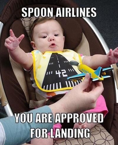 Die besten 100 Bilder in der Kategorie kinder: Spoon Airlines - Löffelflugzeug