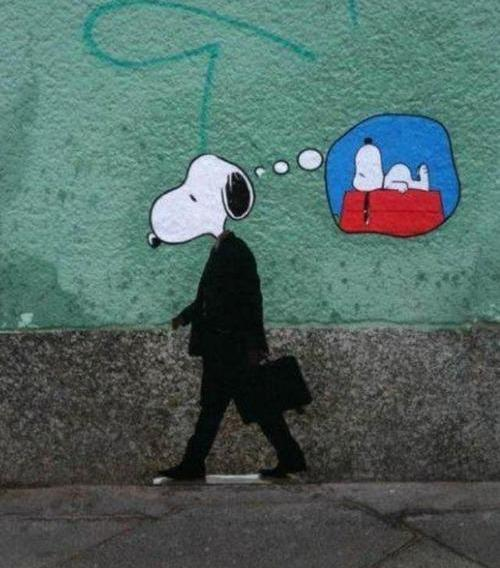 Die besten 100 Bilder in der Kategorie graffiti: Business Snoopy is dreaming