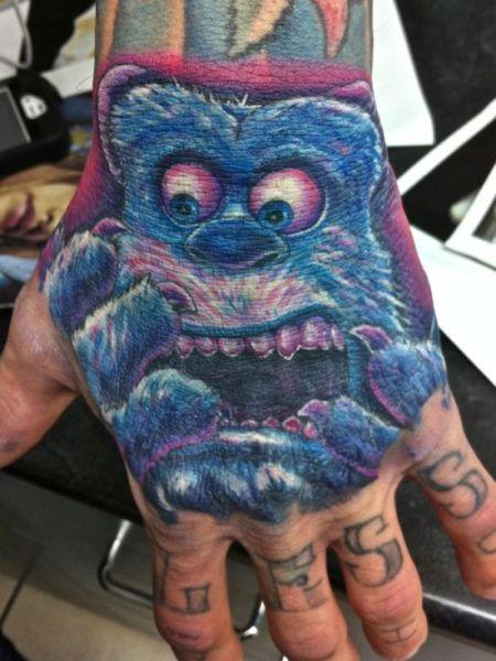 Lustigetattoos Monster Ag Blue Monster Tattoo Die Besten 100