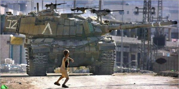 David against Goliath - Child versus Tank. Shows us what is moral courage.