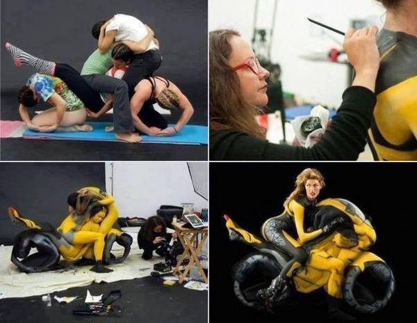 Die besten 100 Bilder in der Kategorie bodypainting: Motorrad