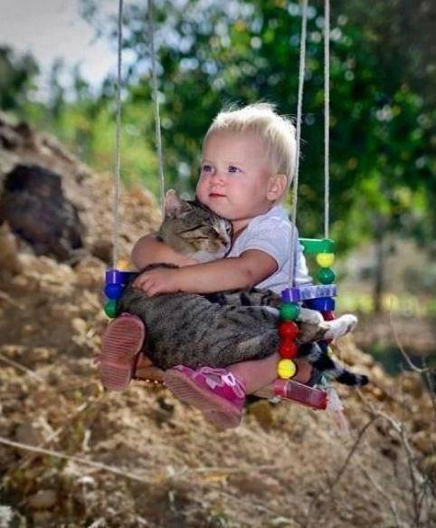 Die besten 100 Bilder in der Kategorie kinder: Kind mit Katze