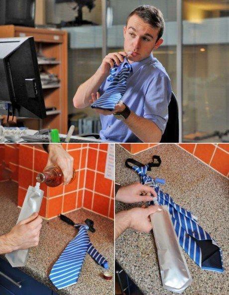 Die besten 100 Bilder in der Kategorie clever: Krawatten Trinkflasche