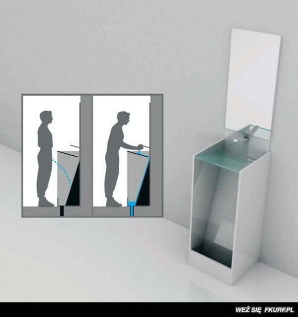 Die besten 100 Bilder in der Kategorie clever: pissoir mit Waschbecken