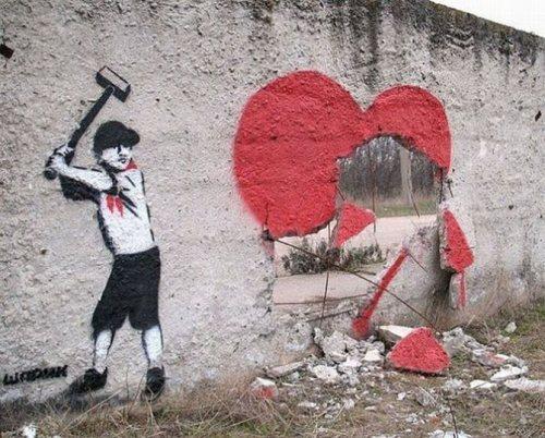 Die besten 100 Bilder in der Kategorie graffiti: Mauer, Herz