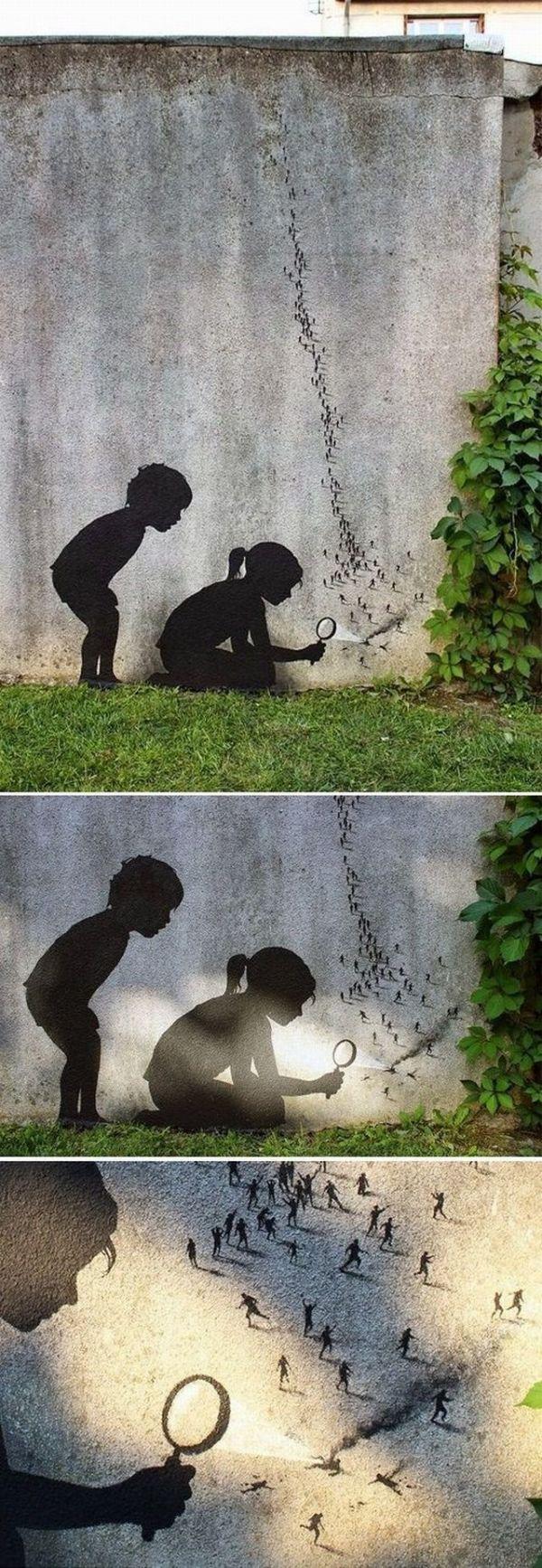 Die besten 100 Bilder in der Kategorie graffiti: Lebewesen, Menschen, Ameisen, Lupe, verbrennen, spielen.